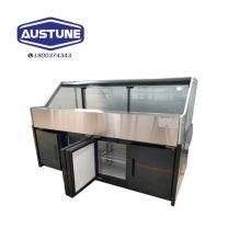 Austune ADUGB-3820 Square Glass Deli Display w/ Storage 3820