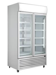ICCOLD AQGDMF2DW White 2 Glass Door Display Fridge