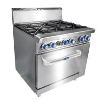 COOKRITE ATO-6B-F-LPG 6 Burner Cooktop with Oven