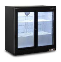 Bromic BB0200GDS Black 2 Glass Door Back Bar Display Chiller 190L Sliding Door