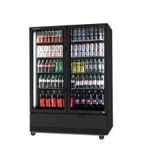 Skope BME1200N-A 2 Glass Door Display or Storage Fridge Black with Stock