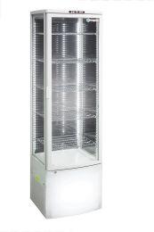 Como White - Floor Standing 4 sided glass display fridge
