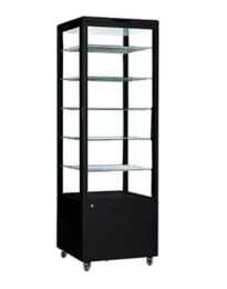Como 500 Black - King Size Floor Standing Refrigerated Display