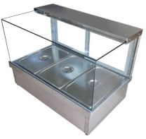 COOKRITE CRB-8 Square Hot Food Glass Display ( GN 1/2 X 8 Pcs )