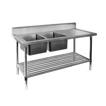 Double Left Sink Bench with Pot Undershelf DSB7-1500L/A