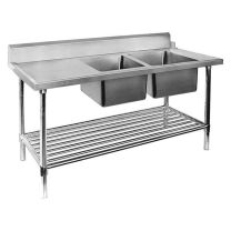 Right Inlet Double Sink Dishwasher Bench DSBD7-1800R/A