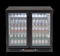 Euro Appliances EA900WFBL Black 2 Glass Door Beverage Cooler