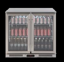 Euro Appliances EA900WFSX2 Glass 2 Door Beverage Cooler
