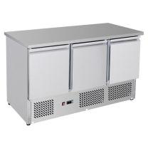 F.E.D. GNS1300B Three Door Compact Workbench Fridge