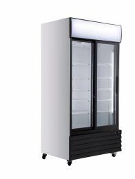 F.E.D LG-1000BG Glass 2 Door Display Fridge Scratch & Dent