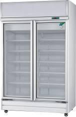 Artisan M1173 Glass 2 Door Display Fridge Freezer Combo