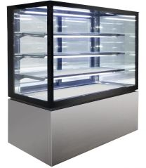 Anvil NDHV4740 Square Glass 4 Tier Hot Display 1200mm