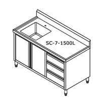 SC-7-1500L-H Cabinet with Left Sink