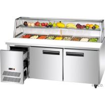 F.E.D. Thermaster SCB/18 2 Large Door DELUXE Sandwich Bar