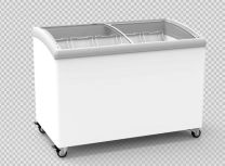 Exquisite SD400 Curved Glass Chest Freezer