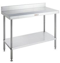 Simply Stainless SS02-06-600- Work Bench With Splashback (600 Series)