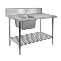 SSB6-2400L/A Single Left Sink Bench with Pot Undershelf