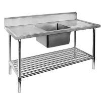 Single Centre Sink Bench with Pot Undershelf SSB7-1800C/A