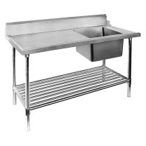 Right Inlet Single Sink Dishwasher Bench SSBD7-1200R/A