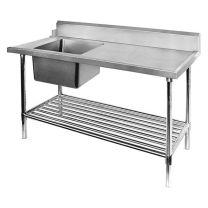 Left Inlet Single Sink Dishwasher Bench - SSBD7-1500L/A