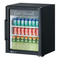 Austune Turbo Air TGM-5SDB 167L Black 1 Glass Door Super Deluxe Refrigerated Merchandiser