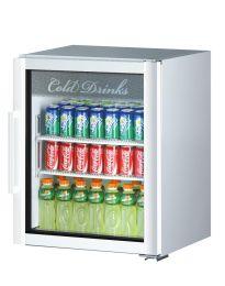 Turbo Air TGM-5SDW 167L White 1 Glass Door Super Deluxe Refrigerated Merchandiser
