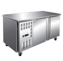 F.E.D TS1200BT 600 Series 2 Door Stainless Steel Workbench Freezer