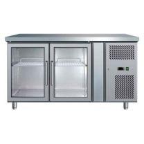 Bromic UBC1360GD 2 door Glass Door Gastronorm Underbar Fridge