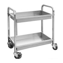 YC-102D Stainless Steel Trolley with 2 Shelves